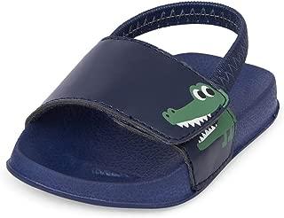 The Children's Place Kids' NBB Dino Slide Sandal US
