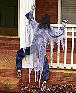 KNL Store 63 Life Size Climbing Zombies Halloween Haunted House Prop Decor (White)