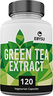 EBYSU Green Tea Extract - 120 Day Supply – 500mg Vegan Capsules with ECGC for Energy Boost & Weight Loss – Made in USA, No...