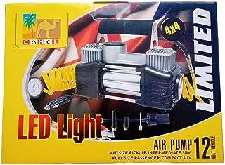 2Cylinder Air Compressor with Led Light - Camel