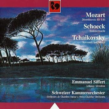 Mozart: Divertimento for Strings in D Major, K. 136 - Schoeck: Sommernacht, Op. 58 - Tchaikovsky: Serenade for Strings in C Major, Op. 48