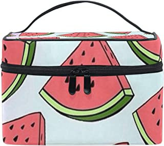 Travel Cosmetic Bag Watermelon Fruits Toiletry Makeup Bag Pouch Tote Case Organizer Storage For Women Girls