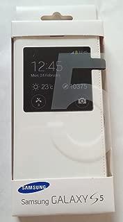 Original Samsung S - View Flip Cover Case (White) for Galaxy S5 (G900)