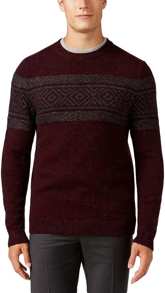 Tasso Elba Mens Crew Neck Knit Pullover Sweater