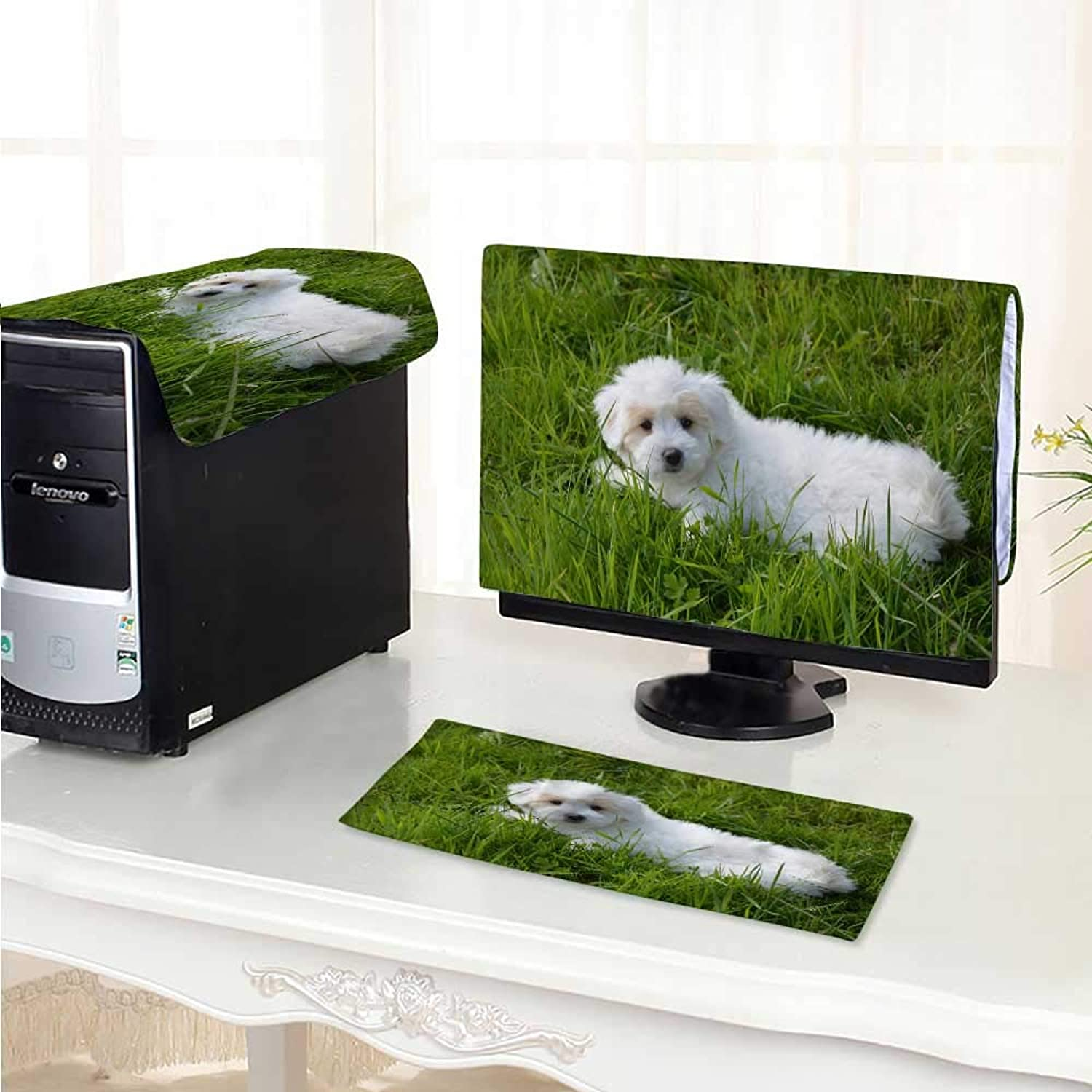 Philiphome Computer Cover 3 Pieces Cute Little pet Dog Antistatic, Water Resistant  29