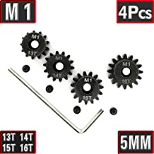 Mod 1 Pinion Gear 5mm Set Hardened 13T 14T 15T 16T with Allen Wrench