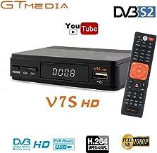 GT MEDIA Freesat V7S FTA Satellite TV Receiver HD DVB-S/S2 SAT Finder TV Decoder,..