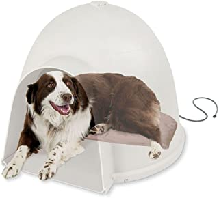 K&H Pet Products Lectro-Soft Igloo Style Dog Bed, Large 17.5-Inch x 30-Inch, 60-Watts
