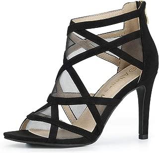 Women's Mesh Cutout Sandals Stiletto Heels