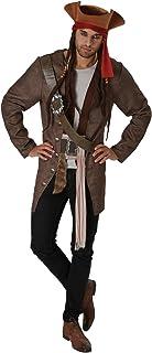 Piratas del Caribe - Disfraz de pirata Jack Sparrow para hombre, Talla única adulto (Rubie's 820520)