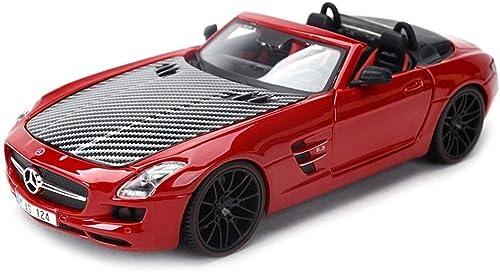 Le modèle des véhicules à moteur de moulage mécanique sous pression, le convertible SLS AMG de ratio 1 24 est fait d'alliage for la décoration d'intérieur, la porte peut être ouverte