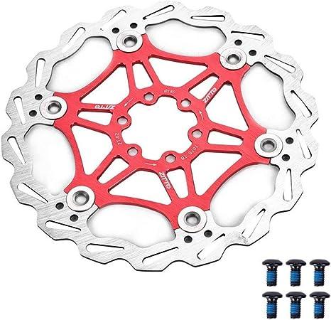 MEXITAL Floating Disc Brake Rotor MTB Road Bicycle Rear Rotors Bolts Brake Pad Cycling Accessory 160mm//180mm 6 Bolts