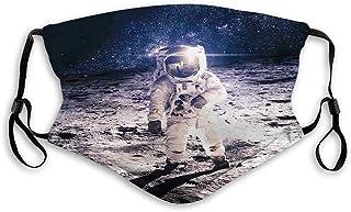 Vindtätt aktiverat kolskydd, yttre rymden, måne spaceman på Sur of Orbit bakgrund kosmos galax, ansiktsdekorationer för ba...