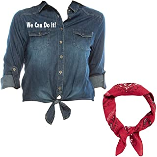 multi color bandana shirt