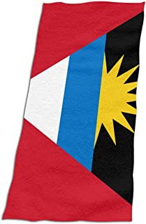 CFX-HY7 Unisex Flag of Antigua and Barbuda Beach Towel, Extra Large Bath Towels for Kids Adult, 37