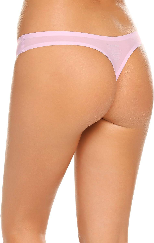 Ekouaer Bikini Panty Womens Seam Free String Microfiber Briefs 3 Pack Assorted Colors