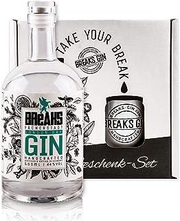 Breaks Premium Dry Gin - Geschenk Set mit Tasse plus 500 ML Gin - Ausgezeichneter Gin mit Lavendel & frischen Zitronen - Mild fruchtige Note - Handmade -
