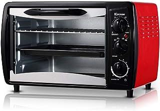 L.TSA Cocina 19L Mini Horno Ajuste de Temperatura 0-250 ℃ y 60 Minutos Temporización 1380W Hogar multifunción Horno Totalmente automático Tarta de Huevo Pastel de Pizza