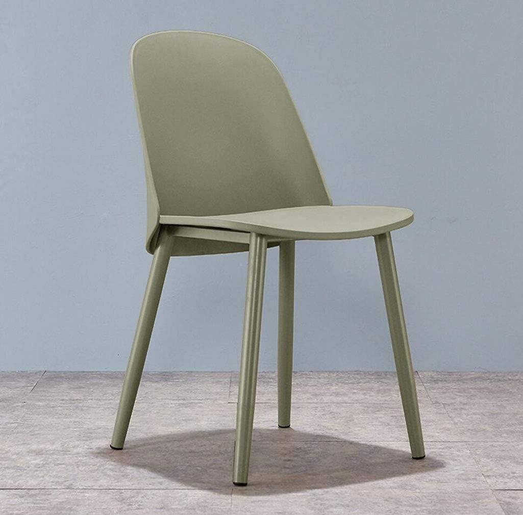 MYMAO Nordic Simple Moderne décontractée Chaise Dossier en Plastique Chaise Creative Casual Duck Langue Chaise [Couleurs Multiples, 44 × 42 × 82 cm],Gray Gray