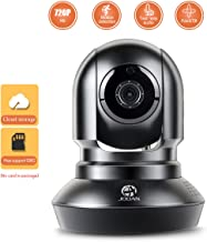JOOAN 720p Security Camera 1.0MP Dome Webcam Wireless Surveillance for Homes with 2 Way Audio and Motion Detection Suitable for iOS and Android Phone with Free Phone App (720p)