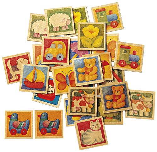 Selecta 63017 Memo Kunterbunt, Jouet pour Enfants, 36 pièces