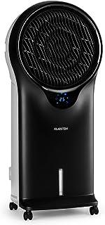 KLARSTEIN Whirlwind - Enfriador de Aire portátil, Ventilador refrescante, 3-EN-1: enfría ventila humidifica, 90W, 5,5L, Oscilador, Movilidad 360º, Asas Laterales, 3 Niveles de Intensidad, Negro