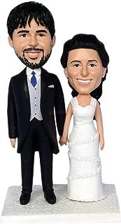 Bambole su misura da foto bambole bacio personalizzate torta nuziale topper mr & mrs bambole bambole bambole da foto di nozze