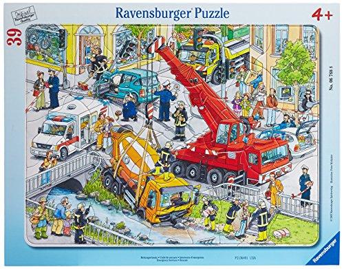 Ravensburger Kinderpuzzle 06768 - Rettungseinsatz - Rahmenpuzzle