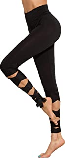 Women's Cutout Leggings Skinny Yoga Pants Runing Jogger Active Tight