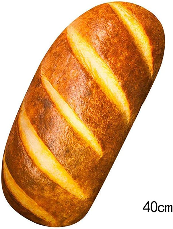 Benlet 3D HD Prints Butter Bread Shape Pillow Plush Toys For Home Decor Pillows