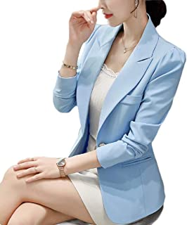 Howely Women OL Solid Colored Fitness One Button Blazer Jacket Suits