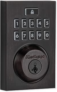 Kwikset 99140-020 SmartCode 914 Modern Contemporary Smart Lock Keypad Deadbolt with SmartKey Security and Z-Wave Plus, Venetian Bronze,