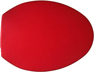 Spandex Fabric Cover for a lid Toilet SEAT fits on Round & Elongated Models - Handmade in USA (Red)
