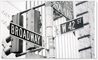 CafePress - NY Broadway Times Square - 20x12 Wall Decal - 20x12 Wall Decal, Vinyl Wall Peel, Reusable Wall Cling