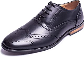 Men Oxford Shoes Classic Modern Wingtip Lace Dress Shoes