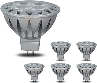 Yamihan MR16 LED Light Bulbs with GU5.3 Base 20 Watt 35W Equivalent Halogen, Daylight White 6000K MR16 Spot Led Bulb for Outdoor Landscape, 5W 12V AC/DC, Non Dimmable, 400LM, 38 Deg, 6 Pack