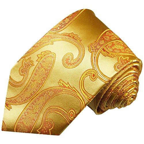 Cravate homme or paisley 100% cravate en soie ( longueur 165cm )