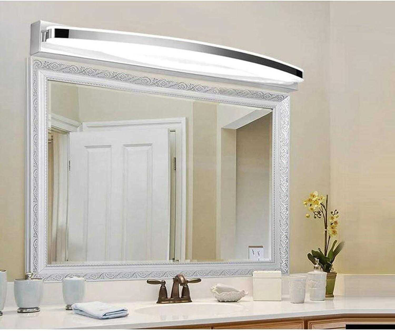 FCX-LIGHT LED Spiegelleuchte Badleuchte Schranklampe Wandleuchte Aus Edelstahl Badezimmerlampe Badlampe Spiegel Wand Schminklicht,Weiß,8W42CM
