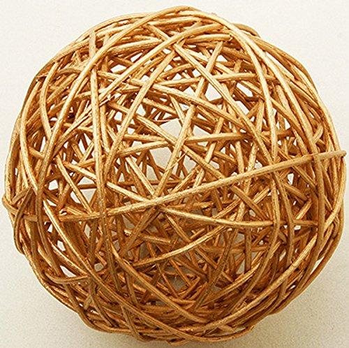 2 boules en osier dorées (Dia. 6 cm) - taille - Taille Unique - 208329