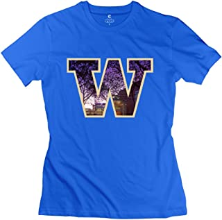 WTEE Geek Design WXTEE Women's University of Washington College Scene in W Shirt Black