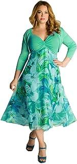 Tian-G Lady Big Fat Loose Comfortable Print Dress Plus Size Women Summer Floral Boho Maxi Evening Party Casual Beach Dress Casual Dress