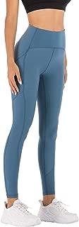 MOYOOGA Womens High Waist Naked Sensation Yoga Pants with Pockets Non See-Through Workout Leggings