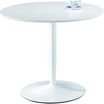 Round Glass Top Pedestal Table Small Clear Glass Kitchen Dining Table 80cm Modern Circular 2 4 Seater Breakfast Bistro Table Target By Modern Furniture Direct Amazon Co Uk Kitchen Home