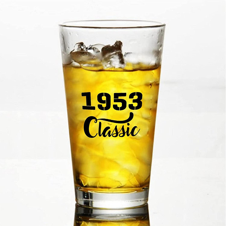 1953 Classic Craft Vasos de cerveza personalizados, vaso de cerveza de pinta de 16 onzas ideas para Chrismas,Día de Acción de Gracias, papá, mamá, marido, esposa, padrino de piso.