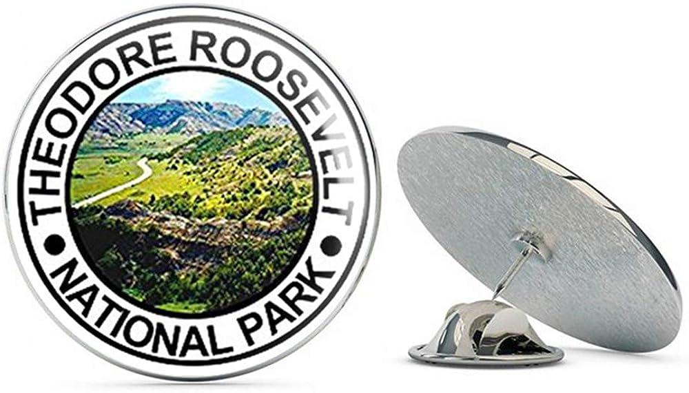 NYC Jewelers Round Theodore Roosevelt National Park (nd Dakota rv Hike Hiking) Metal 0.75