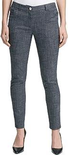 Tommy Hilfiger Womens Berkeley Tweed Mid-Rise Ankle Pants