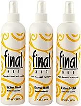FINAL NET, Hairspray, Extra Hold, Non-Aerosol, 12 oz., (3 Pack)