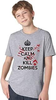 keep calm kill zombies t shirt