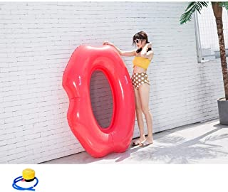 SXCCC Inflatable Floating Row,Inflatable Swimming Ring,Red Lips Swimming Float,Pool Loungers Chair Toy Air Bed Beach Mat Water Hammock/Beach Travel, Pool Toy for Adults and Children