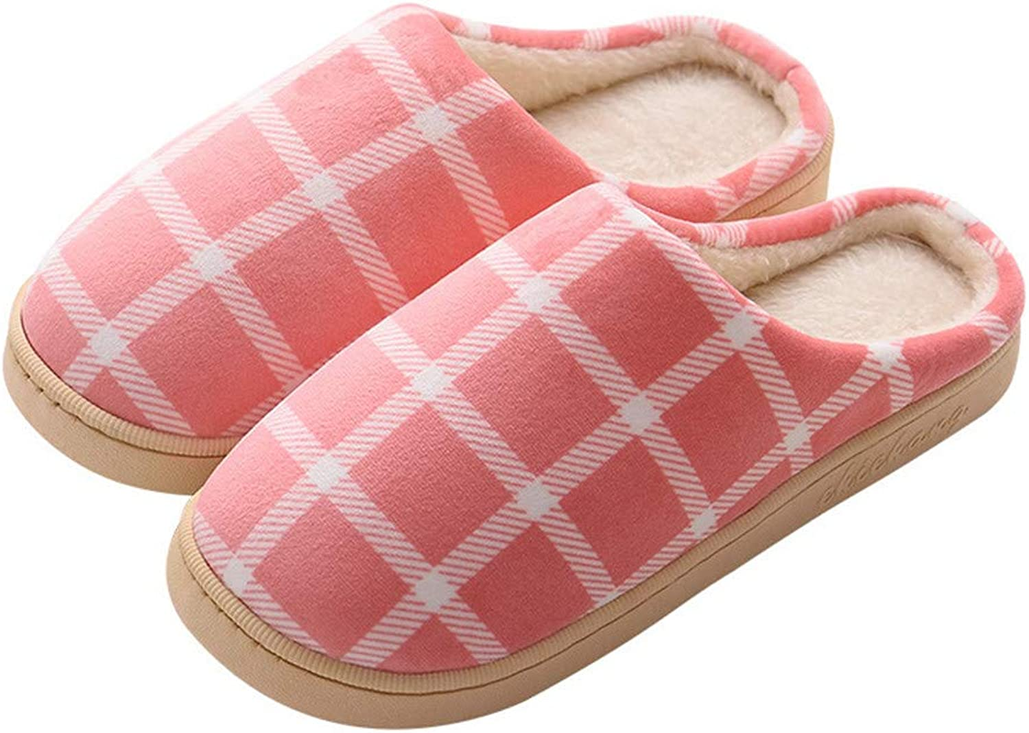 Women's Men's Slippers Plaid Cotton Slippers Warm Indoor Home shoes Women Autumn and Winter Thickening Non-Slip Plush Slippers Comfortable Memory Cotton Slippers House shoes Indoor Outdoor